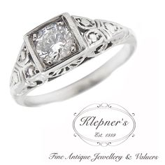 ART DECO INSPIRED FANCY FILIGREE ENGAGEMENT RING. This Art Deco inspired filigree ring can be customized to include any combination of diamonds and/or gemstones such as sapphires, rubies, emeralds, birthstones, anniversary stones, etc & can be crafted in 9ct or 18ct white, rose or yellow gold, platinum or sterling silver.  Prices vary depending on your unique specifications, please don't hesitate to contact us for a quote tailored for you. Visit us at www.klepners.com.au