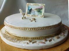 Торт для небольшой и уютной свадьбы реставратора и художника.