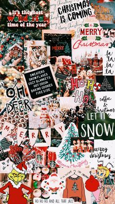 Wallpaper Collage, Holiday Wallpaper, Winter Wallpaper, Cute Patterns Wallpaper, Wallpaper Iphone Cute, Aesthetic Iphone Wallpaper, December Wallpaper, Merry Christmas Wallpaper, Christmas Aesthetic Wallpaper