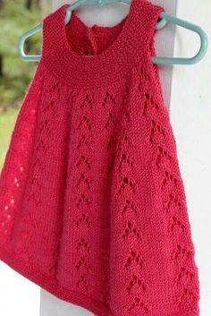 Girls Knitted Dress, Knit Baby Dress, Crochet Girls, Newborn Crochet, Crochet Baby Dress Pattern, Baby Dress Patterns, Tunic Pattern, Baby Knitting Patterns, Baby Pullover