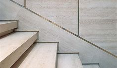 | P | Stair Detail - travertine with brass