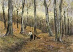 Computer Oil Painting...Emanuel Tancau: spring in forest