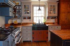 Boston Saltbox Kitchen - traditional - Spaces - Boston - The Workshops of David T. Smith