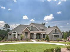 French Country Style 1 story 4 bedrooms(s) House Plan with 3047 total square feet and 4 Full Bathroom(s) from Dream Home Source House Plans