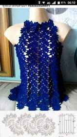 Very easy and fast woman's blouse tutorial – Artofit Crochet added a new photo. Image gallery – Page 513903007478732105 – Artofit by Irina Irina In te Gilet Crochet, Crochet Cardigan Pattern, Crochet Blouse, Crochet Trim, Crochet Lace, Crochet Stitches, Crochet Wedding, Lace Wedding, Wedding Dress