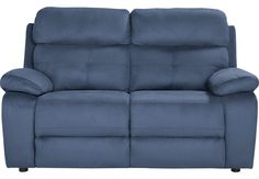 Corinne Blue Loveseat.479.99. 64.5W x 40D x 40H . Find affordable Recliners for your home that will complement the rest of your furniture. #iSofa #roomstogo