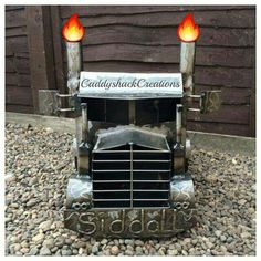 Handcrafted Semi Truck firepit wood burning stove bbq's, from the Original Creator of the Truck burners, Scottish fabricator, Barry Wood.