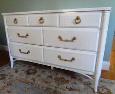 Thomasville Faux Bamboo Dresser by MaeDecemberModern on Etsy, $495.00