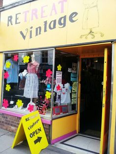 Come on in!!! A great little place for inexpensive vintage clothing on Magdalen Street, Norwich.