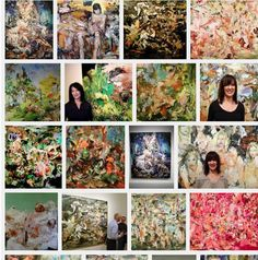 Cecily Brown vs. Sheri' Franssen. COURTESY INSTAGRAM Copycat art?