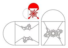 Schneeflocke Weihnachten Herzschablone
