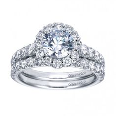 Contemporary Halo Engagement Ring ER7292W44JJ