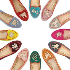 New in from #charlotte_olympia - who knows all about creating a cult shoe - are these #Chinese #Zodiac #slippers Wear with cropped jeans to ensure all eyes are on your feet. #Flats