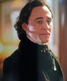 Tom Hiddleston is Sir Thomas Sharpe in Crimson Peak. Sooooooo handsome... Source: http://bad-ass-villain.tumblr.com/post/131807483158/never-let-them-take-the-light-behind-your