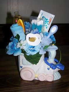 baby+themed+floral+arrangements | Baby Shower Flower Arrangement Ideas