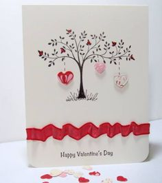 Thoughts and Prayers SU set * Valentine tree by wright1 - Cards and Paper Crafts…
