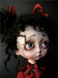 if this dolls eyes were brown~ she would look like me, as a little girl~