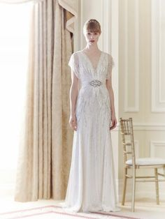 1920's Bridal Style - Jenny Packham Florence gown