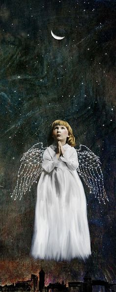 "Beth Conklin - Mixed Media & Digital Art - ""A Prayer"" by Beth Conklin Seraph Angel, Angel Prayers, I Believe In Angels, Archangel Gabriel, American Gothic, Principles Of Art, Angels Among Us, Here On Earth, Angel Art"