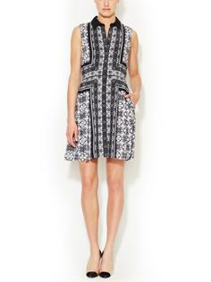 Leandra Pleated A-Line Collar Dress by Ali Ro on sale now on #Gilt. #Style #fashion
