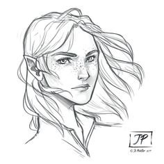 Warm up sketch of Aelin this morning before starting the day!