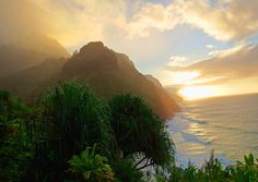 Golden hour on the Nā Pali Coast.[4608x3264] #nature and Science