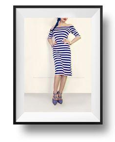 #blue #nautical  #stripes #dress