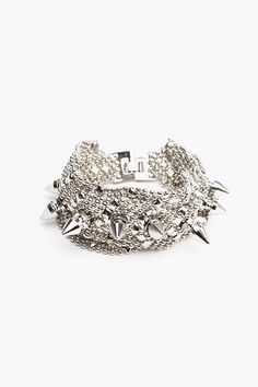 Spiked chain cuff<3 This is cute!