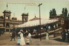 A very early Euclid Beach park postcard.  Look at those dresses!!