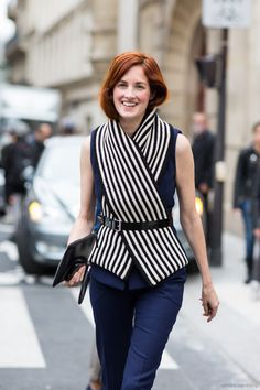 Belted Scarf   A Love is Blind - Paris Fashionweek day 6, outside Giambattista Valli, Taylor Tomasi-Hill