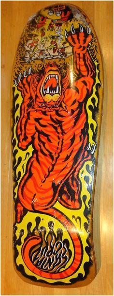 Santa Cruz Steve Alba SALBA Tiger Skateboard Deck Classic NOS Graphics Reissue