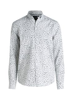 Dieses kombinationsstrake Casual-Hemd mit modischem Allover-Print in charmantem Vogel-Design versprüht eine extravagante Note und wertet langweilige Daily-Looks im Handumdrehen auf.