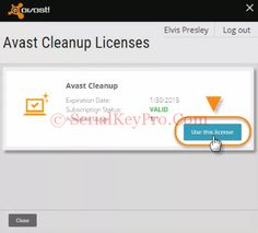 Avast Cleanup Activation Code 2016 Free Download