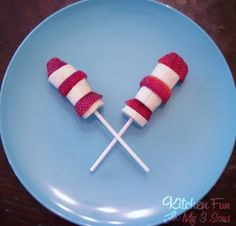 Here is another really simple and healthy idea for a Dr. Seuss school party or just for a fun after school snack for the kids! Just slice some strawberries and bananas and pop them on a lollipop stick. Top with the end of a strawberry. How easy is that! You can view all of our...Read More »