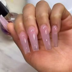 my insta: immysheraz✨ - Nails Long Square Acrylic Nails, Clear Acrylic Nails, Summer Acrylic Nails, French Acrylic Nails, Pastel Nails, Spring Nails, Summer Nails, Nail Swag, Gorgeous Nails