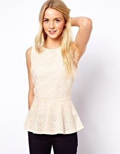 A Wear Lace Peplum Top
