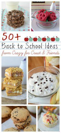 50+ Back to School Recipe Ideas from#backtoschool #breakfast #snack #cookie