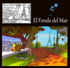 ilustración Carlos Escudero, para el libro El fondo del Mar ,de Gustavo Ferraro Ediciones Personajes Leonardo Bolzicco Tintas Rubén Torreiro
