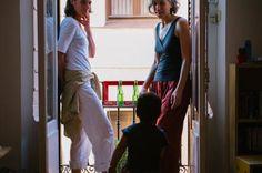 Mesita para balcón con baldosa hidráulica Balcony, The Neighbourhood, Table, Tiles, Mesas, The Neighborhood, Balconies, Tables, Desk