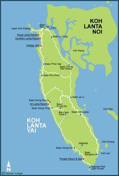 Koh Lanta Map - Krabi Maps