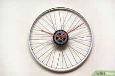 How to Make a Bicycle Rim Clock: 12 Steps (with Pictures) Bicycle Clock, Bicycle Rims, Old Bicycle, Bicycle Wheel, Bicycle Art, Bike Wheels, Make A Clock, Diy Clock, Outdoor Clock