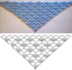 LILLA SHAWL Crochet Chart More
