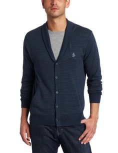 Amazon.com: Original Penguin Men's Long Sleeve 5 Button Shawl Col Sweater: Clothing