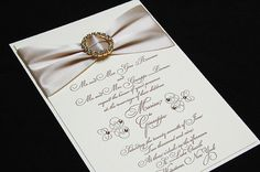These gorgeous, glitzy wedding invitations wouldn't look out of place at a red carpet event!