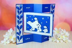 Tattered Lace - Dies - Polar Bears-Polar Bears: x Cake Pictures, Christmas 2019, Polar Bears, Christmas Cards, Paper Crafts, Lace, Creative, Projects, Card Ideas