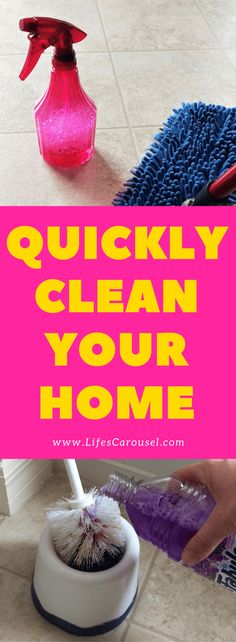 QUICK Cleaning Tips | Messy home? Use these cleaning tips to get your house cleaned FAST! Perfect for busy people (especially parents!).