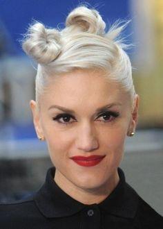 Gwen Stefani acconciatura con nodi