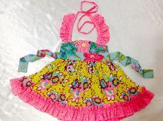 Girls Sweat Ellie Halter Dress Size 2T Handmade Everyday Use 100% cotton #Handmade #Everyday