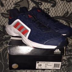 hot sales 89388 c3edc adidas Shoes   Adidas Barricade Court 2   Color  Blue Red   Size