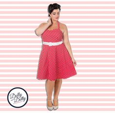 Dolly and Dotty red polka dot 'Penny' swing dress #vintage #vintagefashion #50s